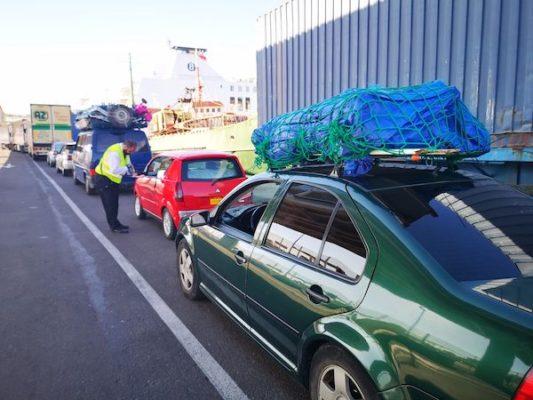 Cerca de 1.600 pasajeros embarcan en el puerto de Almería en el día del estreno de la OPE 2019