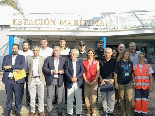 Subdelegado de Gobierno y presidente de la APA con responsables de la OPE en Almería