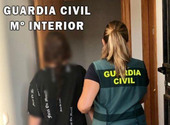 Guardia Civil. Detenida en el El Ejido