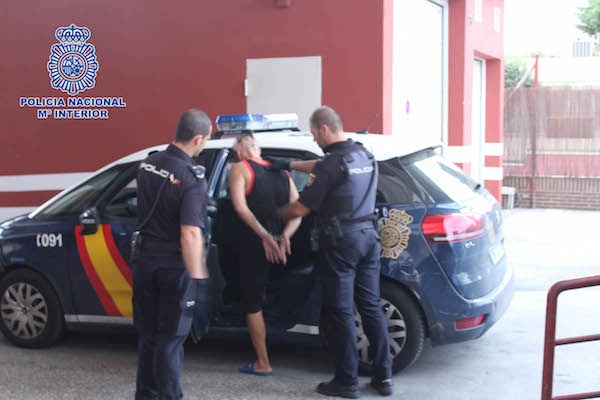 policía nacional - detenido
