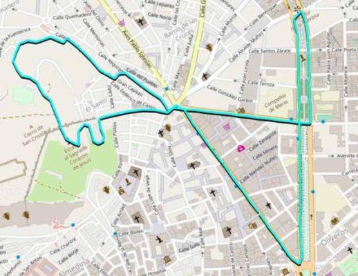 Itinerario de la carrera Ruta 091