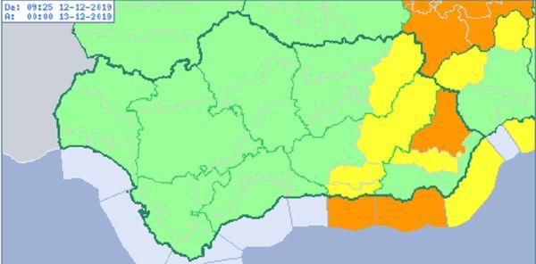 Aviso naranja en Almería