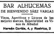 Aparece el rótulo de 1927 del Bar Alhucemas