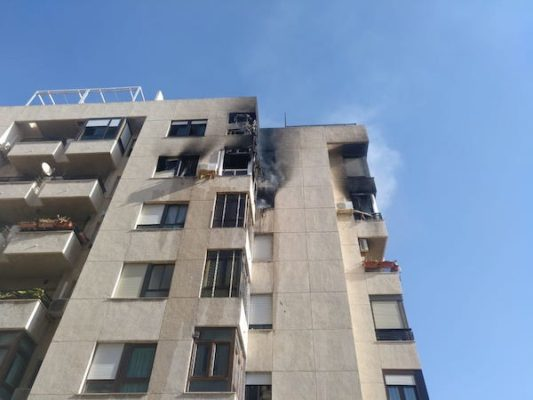 Incendio edificio Parque Nicolás Salmerón
