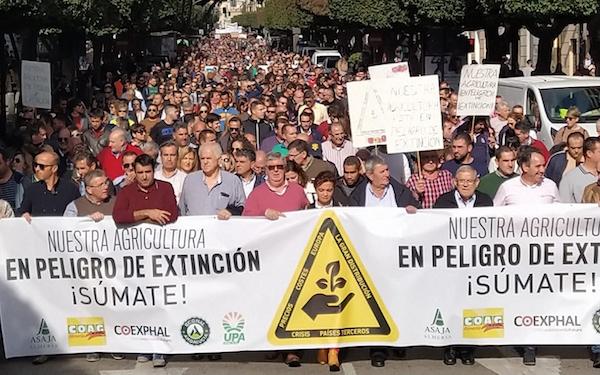 Agricultores protesta 2019