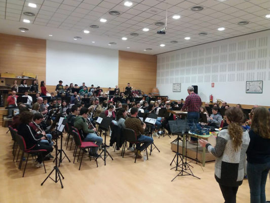 BANDA ESCUELA El Flautista de Hamelín Ensayo