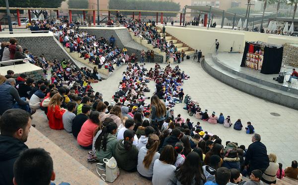 Más de 800 escolares de once centros educativos de Almería celebran en La Rambla el Día Escolar de la Paz y la Tolerancia
