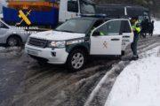 Estado de las carreteras de la provincia afectadas por la nieve