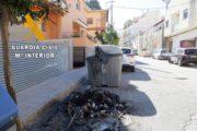 Detenido el autor de la quema de once contenedores en Tíjola