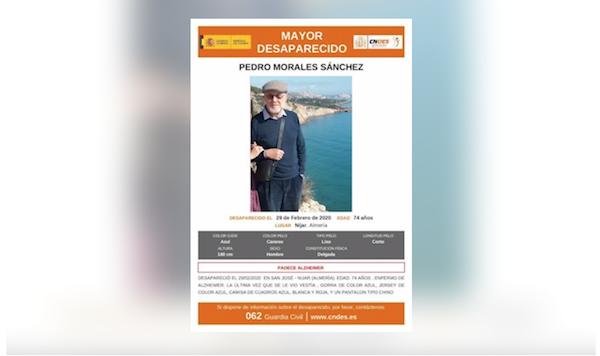 Pedro Morales desaparecido Níjar