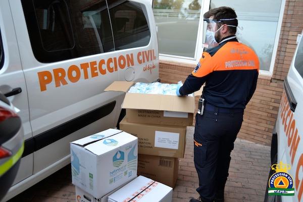 mascarillas y protección civil