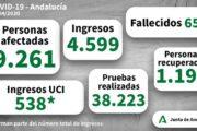 COVID-19: Andalucía registra 47 muertes y 264 positivos confirmados en las últimas horas