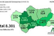 Andalucía registra 432 nuevos confirmados por COVID-19