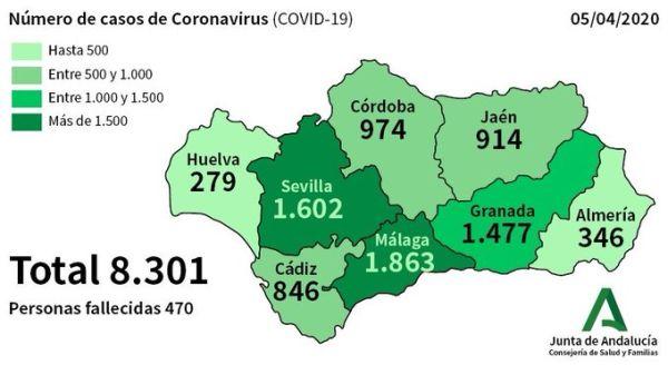 Casos de coronavirus Almería