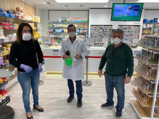 Reparto de material en establecimientos para prevenir el coronavirus
