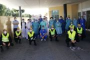 Efectivos de la UME realizan labores de desinfección en Torrecárdenas