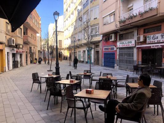 terraza calle trajano