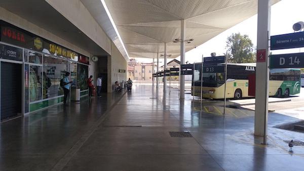Estación Autobuses. darsenas