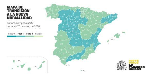 Mapa desescalada