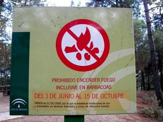 Cartel Prohibido Barbacoas