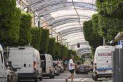 El Paseo de Almería gana espacio para peatones y bicicletas