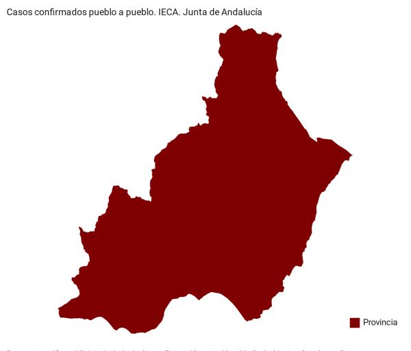Coronavirus en Almería. Casos positivos pueblo a pueblo y su tasa de contagio. Actualización datos automática