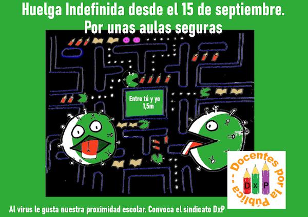 cartel huelga indefinida