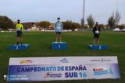 El atleta roquetero Juan Francisco Lozano logra dos medallas de oro en el campeonato de España de atletismo sub 16