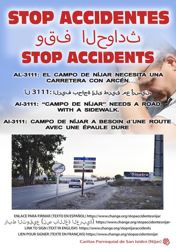 cartel stop accidentes nijar-2