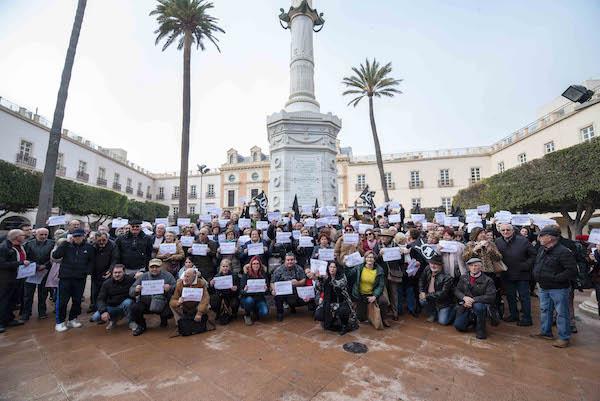 Protesta realizada en enero