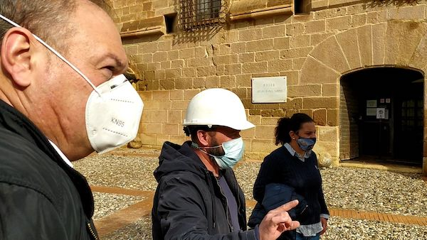 visita a las obras Castillo