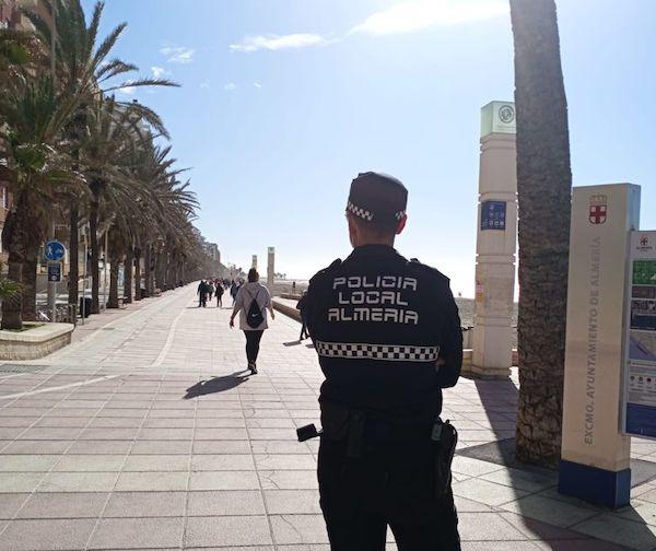 CORONAVIRUS VIGILANCIA POLICIA LOCAL PASEO MARÍTIMO