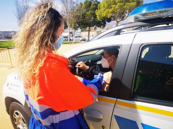 vacunación policías