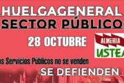 Convocada para el jueves 28 de octubre una huelga general en todos los servicios públicos