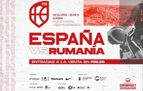 Almería acogerá el España-Rumanía clasificatorio para el EuroBasket Femenino 2023